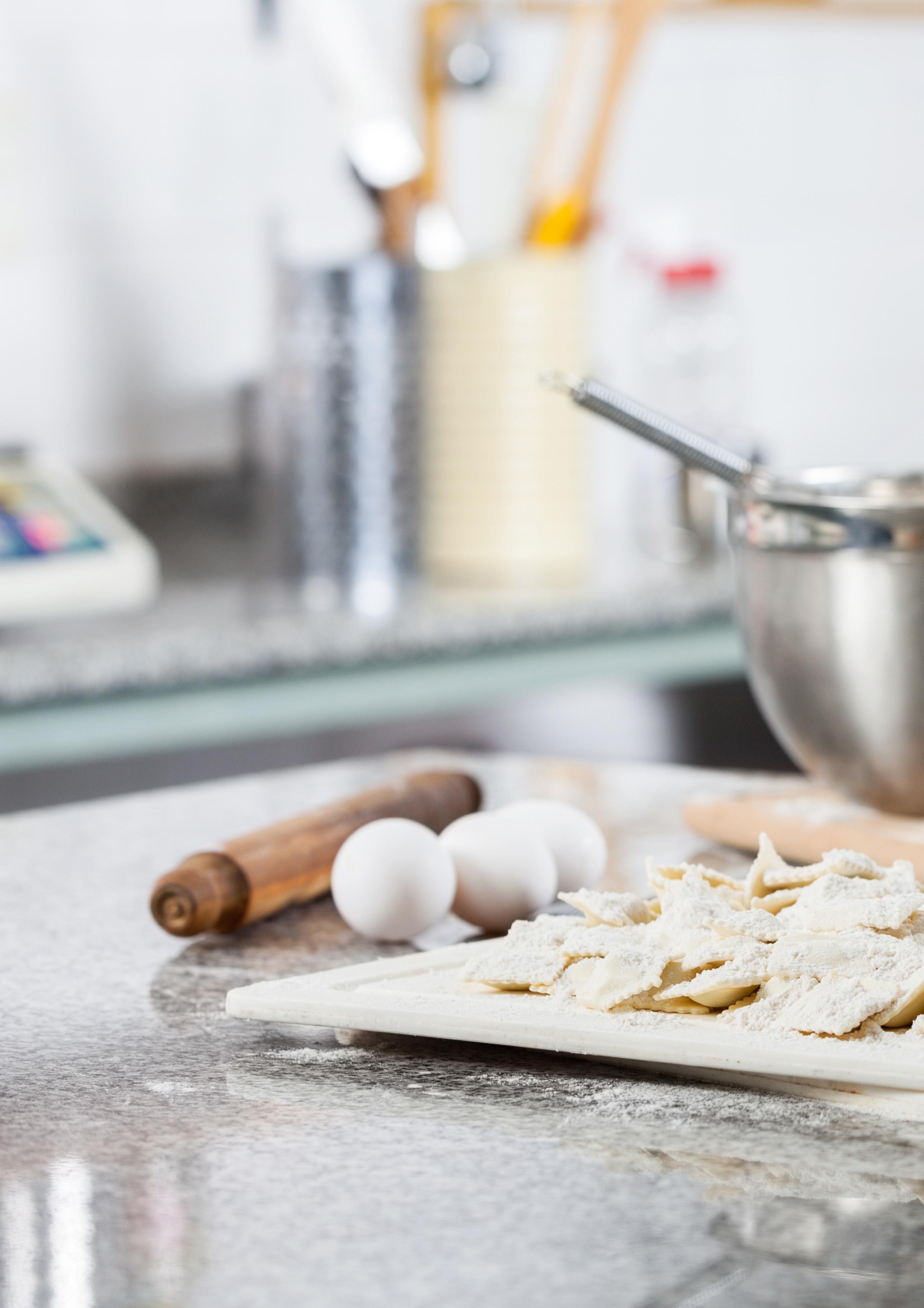 pristine kitchen countertop