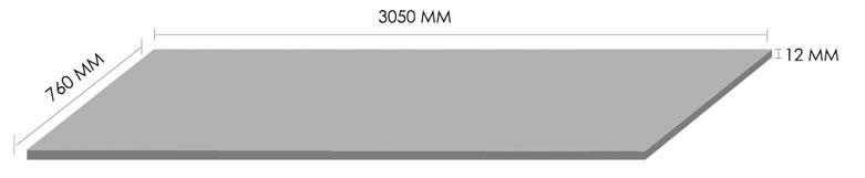 Solflex Solid Surface Slab Dimensions