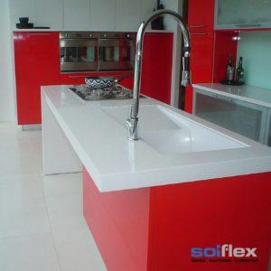 solflex solid surface minimalist kitchen