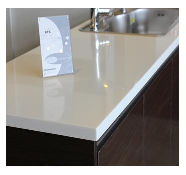 KNEX Modular Furniture Design Kitchen Solflex Solid Surface Countertop Nougat White