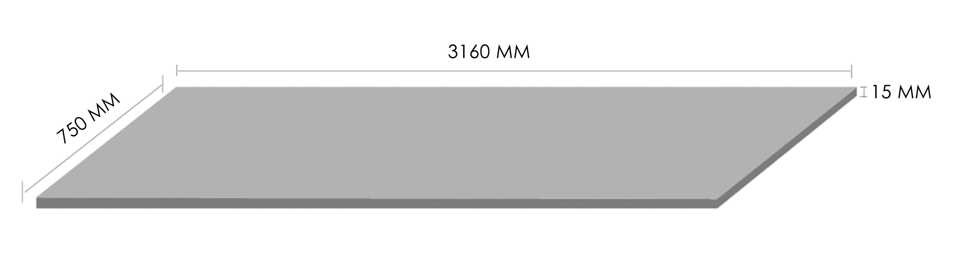 Markee Absolute Quartz Slab Dimension