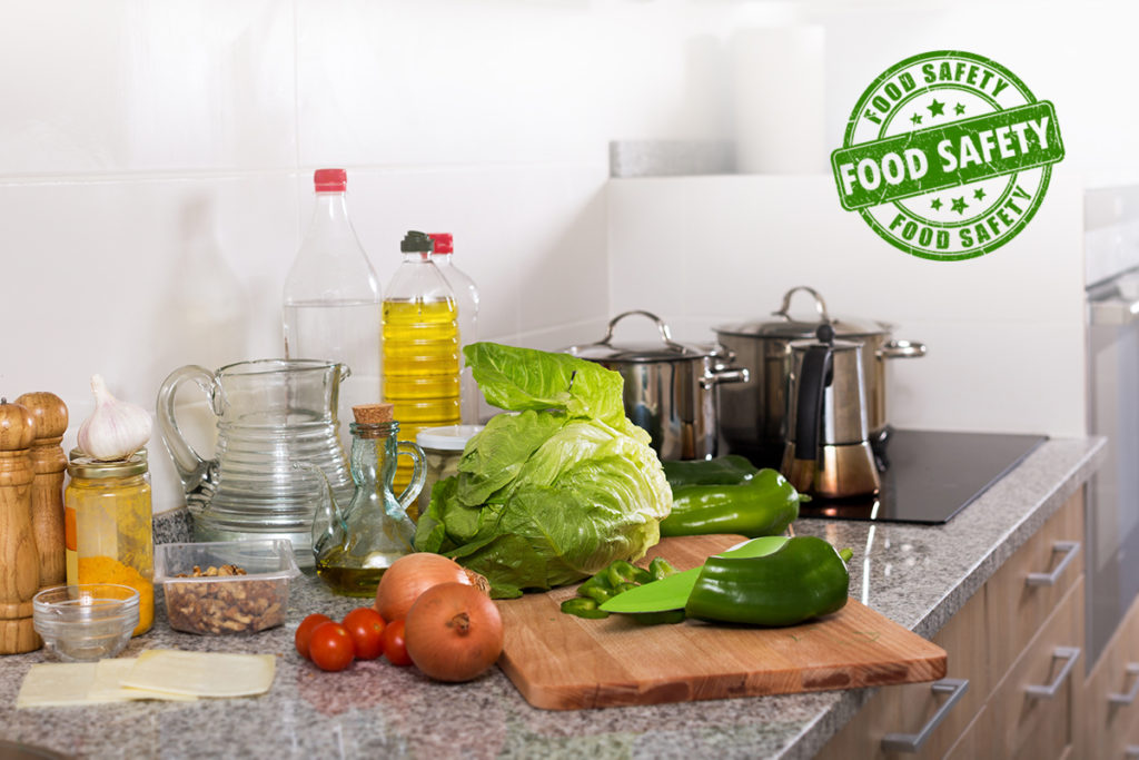 solid surface countertop food safety