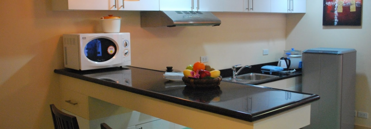 Shangrila Staff House Kitchen with Solflex Solid Surface countertop