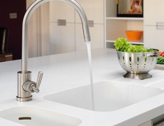 solid surface kitchen sink